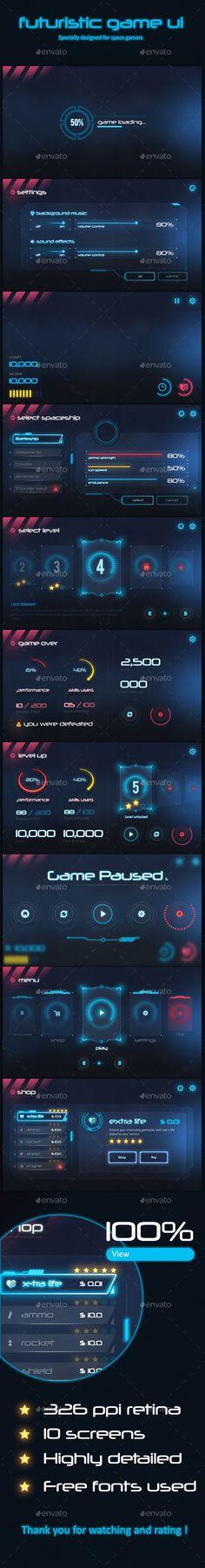 Futuristic Game Ui Download here: https://graphicriver.net/item/futuristic-game-ui/19577793?ref=KlitVogli