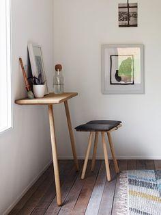 designwithinreach:  Georg Console Table and Stool  Designed by Christina Liljenberg Halstrøm