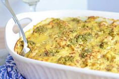 Light Chicken Quinoa Divan has the richness of the recipe that inspired it, but is lightened-up and freezer-friendly!
