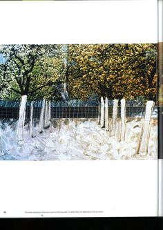 the white orchard on white sand and the reflecting wall, Museum Park, Rotterdam, 1994 - Yves Brunier
