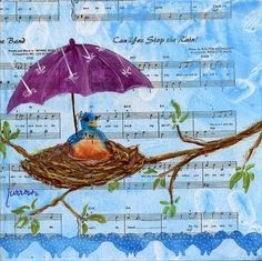 """""""Can You Stop the Rain ?!"""" - acrylic by ©Sue Furrow (DailyPaintworks)"""