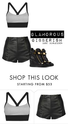 """""""Sem título #267"""" by glamorous-b ❤ liked on Polyvore featuring McQ by Alexander McQueen and Giuseppe Zanotti"""