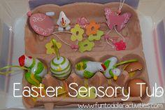 Fun Toddler Activities: Simple Easter Sensory Tub #easter #sensory #toddler