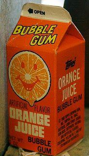 orange juice gum?