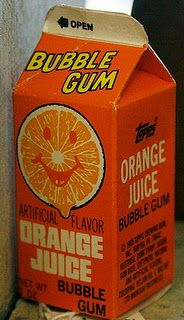 orange juice gum