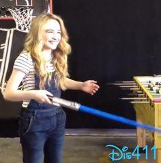 Video: Sabrina Carpenter Practicing Her Wand ID June 19, 2014