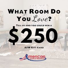 What Room Do You Love?  Answer with a photo on Instagram for the chance to win a $250 gift card from AFW  1. Follow Us On Instagram  2. Tag @AFWonline 3. Use the Hashtag #AFWatHome Click link in bio  for full instructions and rules!