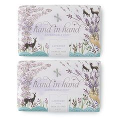 Lavender Bar Soap - 2 Pack. For every product purchased, Hand in Hand's Clean Water Collection donates one bar of soap & one month of clean water to a child in the developing world.