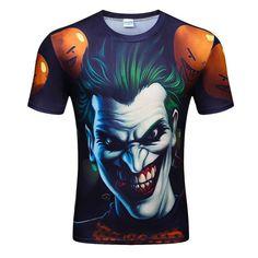 8bc6ded2 Fashion Men's Short Sleeve Polyester 3D O-Neck Joker T-Shirt Frog Lightning  3D Water Printed T Shirt