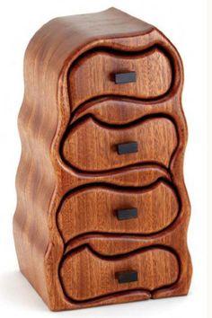 boite à bijoux en bois, design original de coffret en bois