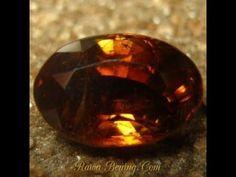 Batu Permata Natural Zircon Yellowish Orangy Brown 2.48 carat