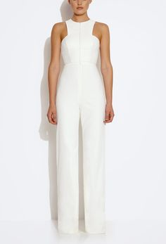 Image 1 of AQ/AQ Crane Front Zip Jumpsuit - Cream |