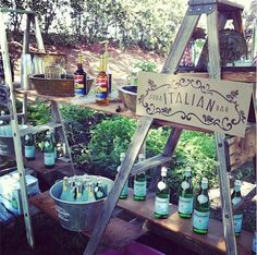 Isn't this the sweetest Torani Italian Soda bar, from @AmpersandInk Designs Designs Designs?! We adore this lovely idea for a fun, summer party!