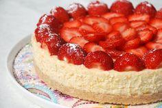 Cheesecake met aardbeien - Keuken♥Liefde