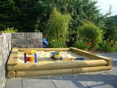 Sandkasten stabil 200x200 cm - Spiel-und-Garten.de