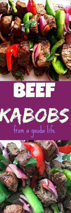 Beef Kabobs - tender, juicy sirloin. So much robust flavor, this will be your new grilling go-to.