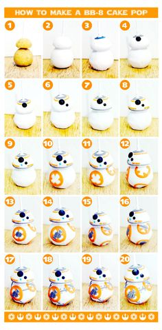 How To Make A BB-8 Cake Pop #starwars #bb8