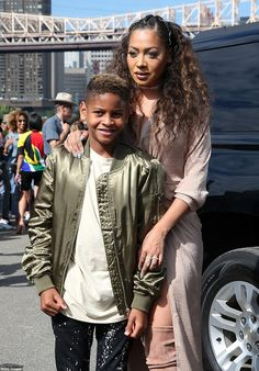 Bonding time: Kim's gal pal La La Anthony was in attendance at the event as she brought nine-year-old sonKiyan Carmelo Anthony