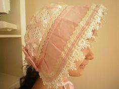 Japan Sweet Lolita Maid Cosplay Frill Bonnet Headress pink cosplay v.good cond.