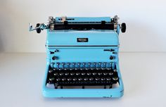 Vintage Turquoise Royal KHT Manual Typewriter by MaudeAndLola, $350.00