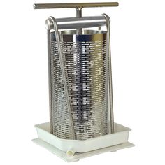 Tabletop Fruit Press Gallon Tabletop fruit press: Excellent for apples or grapes, this extremely well-built gallon press is great for smaller Homemade Cider, Homemade Alcohol, Peanut Butter Machine, Apple Wine, Manual Juicer, Cashew Butter, Wine Making, Home Brewing, Almond Milk