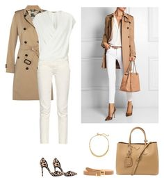 """""""Get the look"""" by dezaval ❤ liked on Polyvore featuring Burberry, White House Black Market, Nly Shoes, Earnest Sewn, Prada, L'Agence and Chloé"""