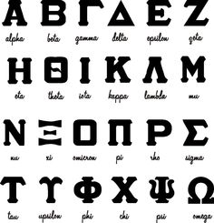 Greek Letters With Text Choice Sorority/Fraternity by gotdecalz.