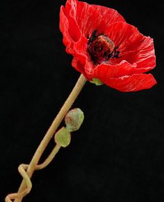 Poppy Flower Red Artificial