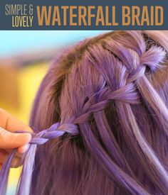 Waterfall Braid   Braided Hairstyles Tutorial #DIYready www.diyready.com