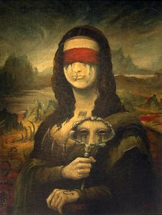 Masque by Simonjova. This is my own interpretation of how the freakin' Mona Lisa suppose to look like. Monnalisa Kids, Arte Alien, La Madone, Mona Lisa Parody, Mona Lisa Smile, Renaissance Artists, Hippie Art, Italian Artist, Tour Eiffel