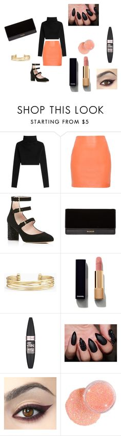 """Untitled #96"" by simplyharmonyyy ❤ liked on Polyvore featuring Valentino, Kate Spade, Balmain, Stella & Dot, Chanel and Maybelline"