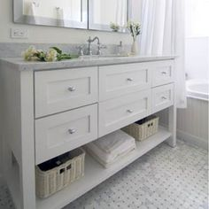 The bathroom with modern design is the perfect option for a contemporary home. Bathroom Renos, Budget Bathroom, Laundry In Bathroom, Bathroom Shelves, Bathroom Interior, Small Bathroom, Modern Bathroom, Bathroom Ideas, Minimalist Bathroom