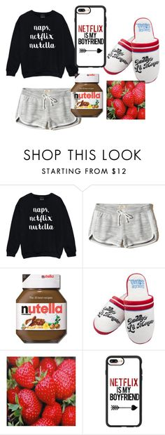 """""""zzz"""" by inae-leigh on Polyvore featuring moda, Hollister Co. e Casetify"""