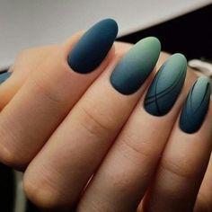matte nails, ombre nails