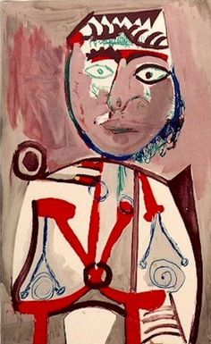 "Pablo Picasso - ""Character"", 1970Pablo Picasso - More Pins Like This At FOSTERGINGER @ Pinterest"