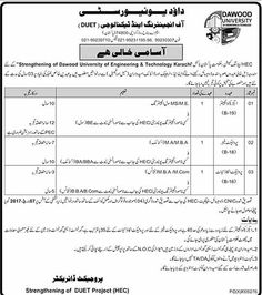 Dawood University Of Engineering And Technology jobs