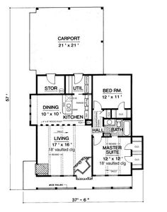 Example of open concept barn home plan the main living areas are open - Open Floor Plan Small Example Of Open Concept Barn Home