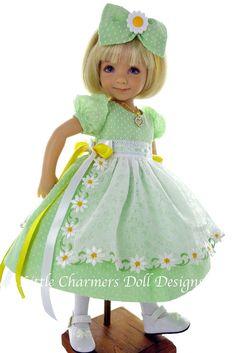 Effner, Effner 13, Effner Little Darling Dress.  *Little Charmers Doll Designs #LittleCharmersDollDesigns