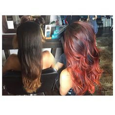 Before and after color by Tenae