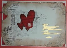 coeur crêpe rouge Mail Art, Scrap, Photos, Flag, Scrap Material, Flags, Cake Smash Pictures