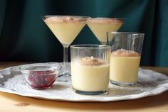 Marzipan Mousse with Cranberry Foam
