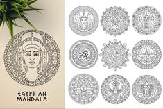 This bundle contains 300 unique vector Black & White mandala designs (some have clean lines and some have an organic look to have a more hand made feel to it) - Geometric Tattoo Sleeve Designs, Tattoo Shading, Sacred Geometry Symbols, Relaxation Meditation, Butterfly Template, Indian Mandala, Paper Ornaments, Ancient Civilizations, Vector Design