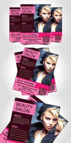 Beauty Salon Flyer Template. Flyer Templates. $7.00