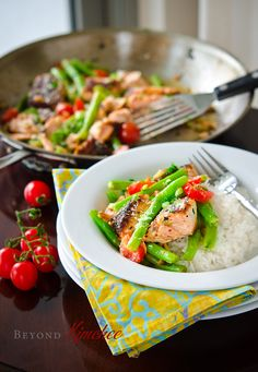 Salmon-with-green-beans