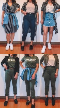 Equipamiento, accesorios y ropa de viajes Curvy Girl Outfits, Plus Size Outfits, Trendy Outfits, Fall Outfits, Fashion Outfits, Curvy Girl Style, Fashion Hacks, 2000s Fashion, College Fashion