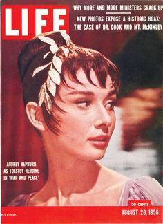 August 20, 1956: Audrey Hepburn as Tolstoy Heroine in 'War and Peace'