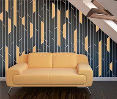 BROKEN LINES Wall Stencil  Reusable Stencils  DIY  by StencilledUp