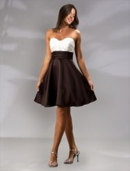 Pretty Maids Bridesmaid Dresses - Style 22400 This one is super cute the top part can be red while the bottom is black