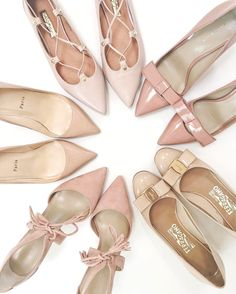 Blush and nudes for #TuesdayShoesday (the pink tassel pumps on the bottom are back in stock!) Click the link in my profile for details! http://liketk.it/2qh4J #shoeaddict #neutrals