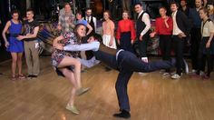 Fast Tempo Part of Lindy Hop Advanced Final Jam at Russian Swing Dance C...